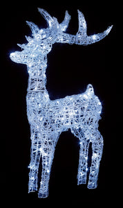 Soft Acrylic 1.15m Reindeer Lit with 160 White LED Lights