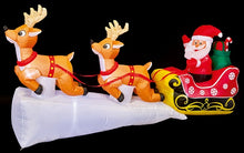 Load image into Gallery viewer, Premier 8ft/240cm Inflatable Santa Sleigh