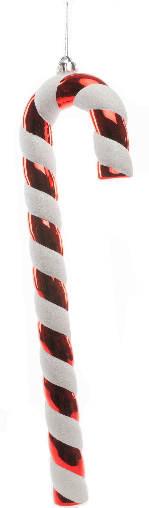 Festive Red and White Glitter 50cm Candy Cane