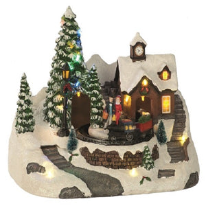Musical Train Scene 28cm Battery Operated