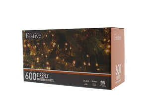Festive 600 Firefly Lights Warm White