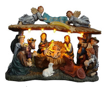 Load image into Gallery viewer, Festive Lit Nativity Scene