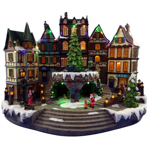 Animated 42cm Musical Town Scene