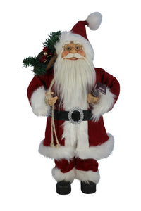 Traditional Standing Santa with Lantern