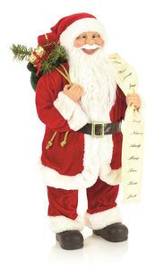 Standing Santa with List 60cm