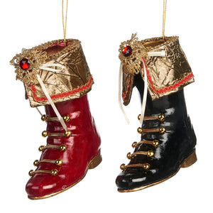 Christmas Jewel Boots Hanging Ornament