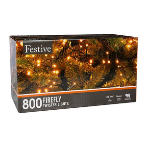 Festive 800 Firefly Lights Warm White