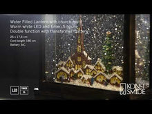 Load and play video in Gallery viewer, Konstsmide Christmas Market Water Lantern