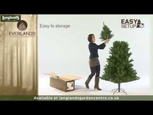 Load and play video in Gallery viewer, Kaemingk Snowy Imperial Pine Christmas Tree 6ft/180cm