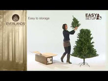 Load and play video in Gallery viewer, Victoria Pine Christmas Tree 6ft/180cm