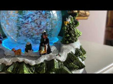 Load and play video in Gallery viewer, Christmas Tree Snow Globe Colour Changing LED Decoration