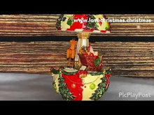 Load and play video in Gallery viewer, Christmas Egg Shaped Santa and Sleigh Carousel Music Box