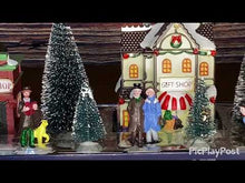 Load and play video in Gallery viewer, Christmas Village Street Scene 17 pieces Battery Operated