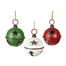 Load image into Gallery viewer, Christmas Vintage Style Star Cut Out Metal Baubles