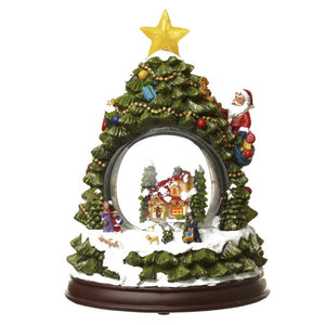 Christmas Tree Snow Globe Colour Changing LED Decoration