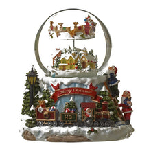 Load image into Gallery viewer, Animated Christmas Snow Globe