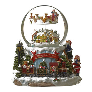 Animated Christmas Snow Globe