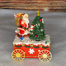 Load image into Gallery viewer, Musical Santa With Tree on Cart Christmas Music Box