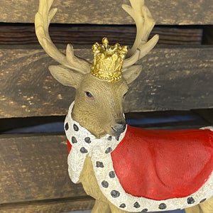 Christmas Regal Stag With Crown