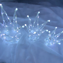 Load image into Gallery viewer, Chirstmas Soft Acrylic 3 Piece Set of Crowns 140 White LED Lights