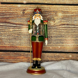 Musical Nutcracker 46cm With Christmas Scene Globe
