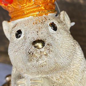 Christmas Hamster Resin Ornament