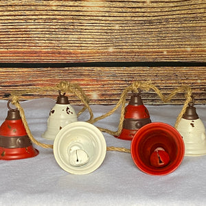 Christmas Metal Bell Garland Decoration