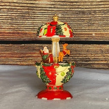 Load image into Gallery viewer, Christmas Egg Shaped Santa and Sleigh Carousel Music Box