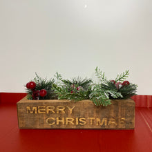 Load image into Gallery viewer, Small Merry Christmas 2 Candle Holder with Foliage