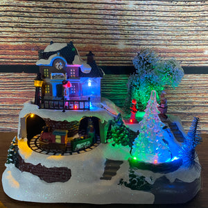 Konstsmide Mechanical Musical Christmas Lit Village Decoration