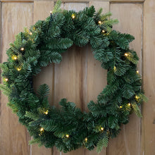 "Load image into Gallery viewer, Noma St Moritz Fir Christmas Pre Lit Wreath 24""/60cm"