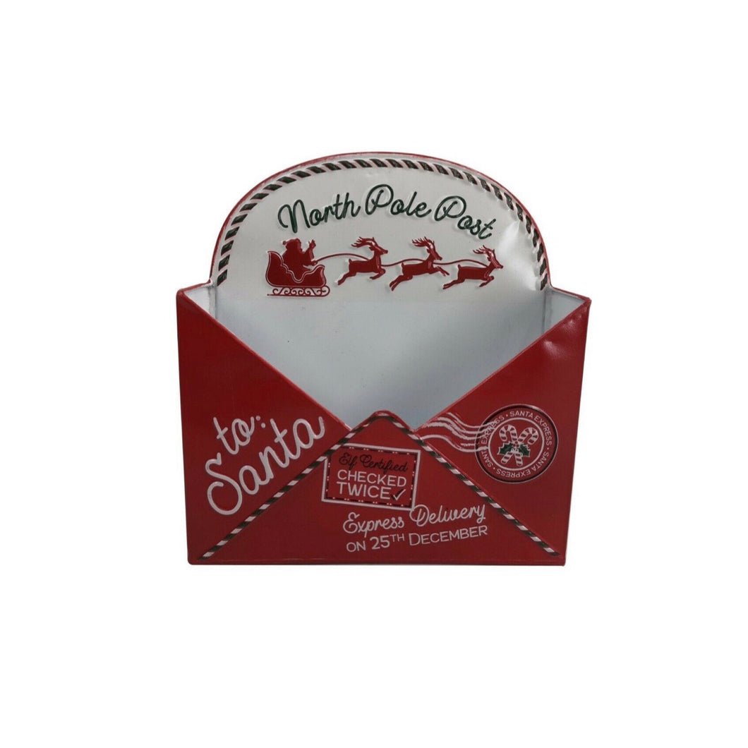 Christmas List Letter To Santa Post Box Envelope Wall Mount Mail