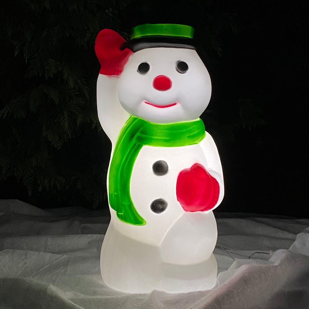 Snowman Christmas Blow Mould Retro Decoration