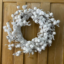 Load image into Gallery viewer, Christmas White Berry Wreath