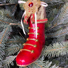 Load image into Gallery viewer, Christmas Jewel Boots Hanging Ornament