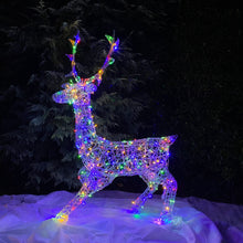 Load image into Gallery viewer, Soft Acrylic 1.4m Stag 300 Multi Coloured LED Lights