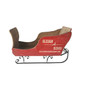 Large Wooden Christmas Sleigh
