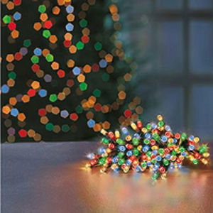 Premier TimeLights 100 Multi-Coloured LED Battery Operated String Lights