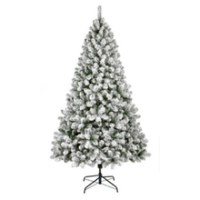 Load image into Gallery viewer, Woodcote Spruce Flocked 6ft/180cm Christmas Tree