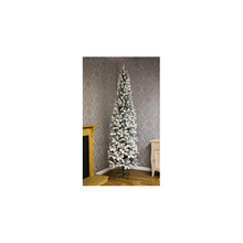 Load image into Gallery viewer, Spruce Pencil Flocked Pine 2.2m/ 7ft Christmas Tree