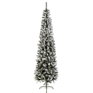 Spruce Pencil Flocked Pine 2.2m/ 7ft Christmas Tree