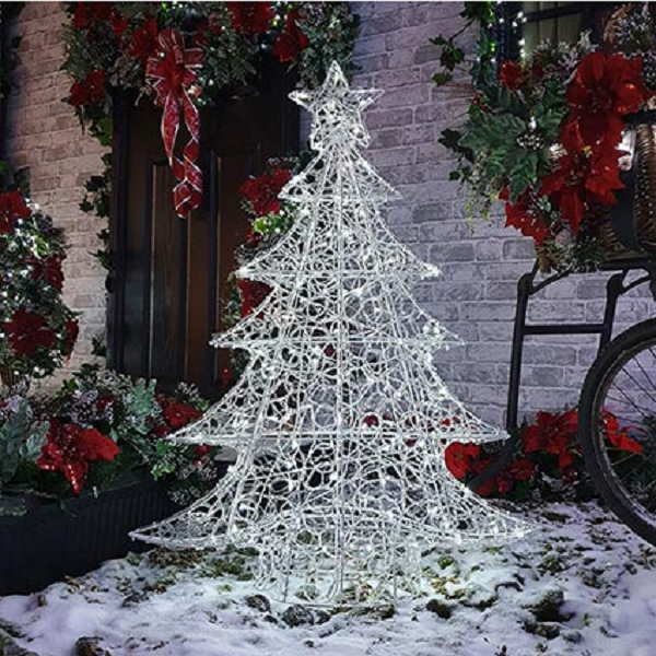 Soft Acrylic 1m Christmas Tree with 120 White LED Lights