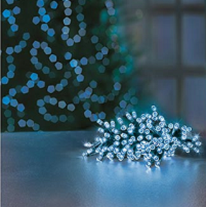Premier TimeLights 200 Blue LED Battery Operated String Lights