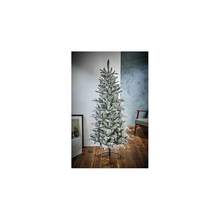 Load image into Gallery viewer, Lapland Flocked Slim 1.8m Christmas Tree