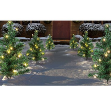 Load image into Gallery viewer, Christmas Tree Path Lights Set of 6