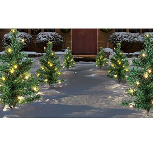 Christmas Tree Path Lights Set of 6