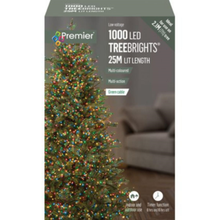 Load image into Gallery viewer, Premier TreeBrights 1000 Multi Coloured LED Christmas String Lights