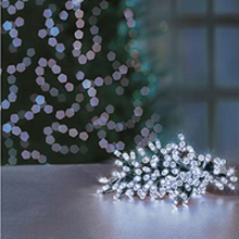 Load image into Gallery viewer, Premier TimeLights 50 White LED Battery Operated String Lights