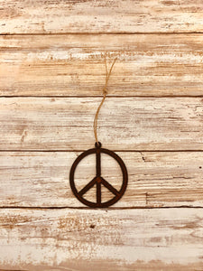 Universal Ironworks Inc - Peace Symbol Ornament
