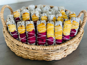 Picki Nicki - White Sage w/ Dried Rose Petals Smudge Sticks in Bulk